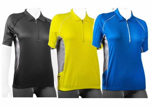 Trail Jersey Cycling Polo Bike Top w back pockets and reflectives