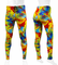 Wild Print Spandex PADDED Cycling Tights - Bright Yellow
