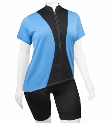 Women's Full Figure Hourglass Cycling Jersey - Made in USA