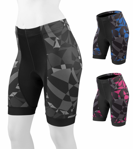Women's Mosaic Print Bicycle Shorts - Designer Cycling Short
