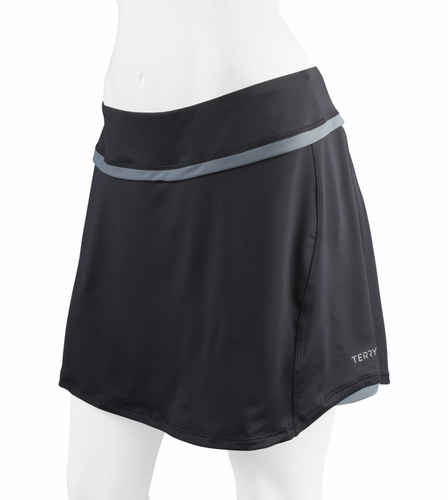Terry Womens Padded Flare Skort for Cycling Black
