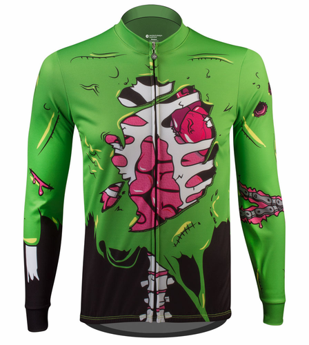 Zombie Halloween Long Sleeve Cycling Jersey