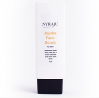 Jojoba Facial Scrub for African American Men