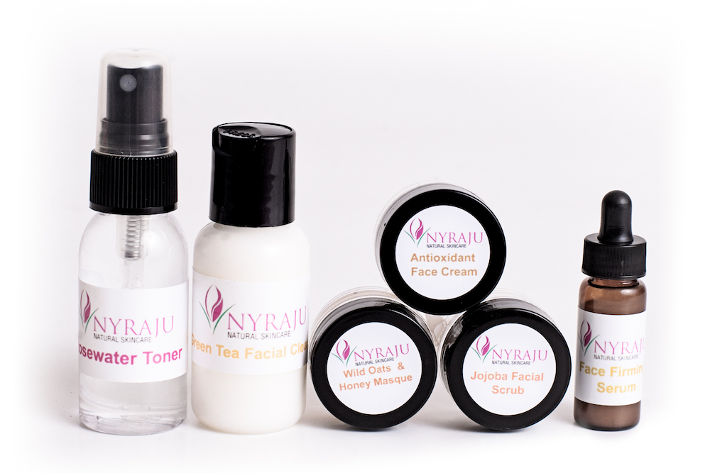 black skin care facial products