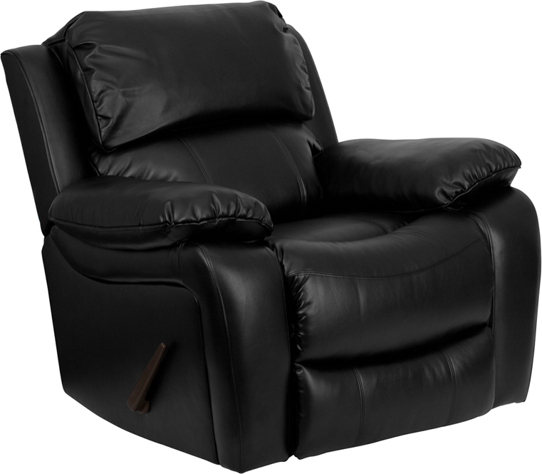 sc 1 st  Recliner City & Black Leather Rocker Recliner [MEN-DA3439-91-BK-GG] islam-shia.org