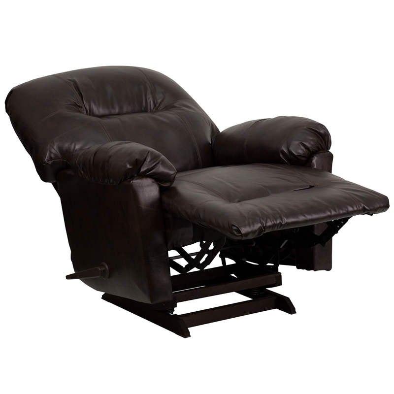 Contemporary Bentley Brown Leather Chaise Rocker Recliner [AM-C9350-9075-GG]  sc 1 st  Recliner City & Contemporary Bentley Brown Leather Chaise Rocker Recliner [AM ... islam-shia.org