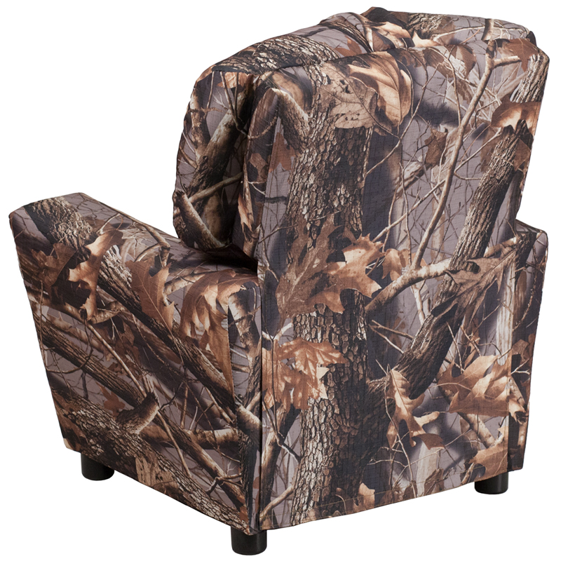 Contemporary Camouflaged Fabric Kids Recliner With Cup Holder [BT 7950 KID  CAMO GG]