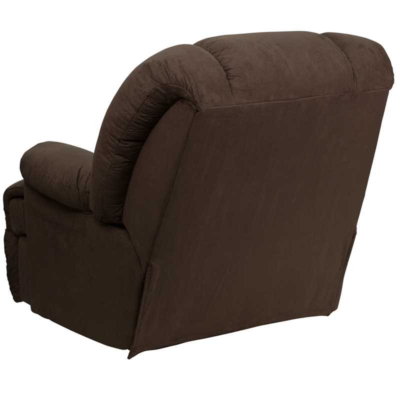 Contemporary glacier brown microfiber chaise rocker recliner am c9700 7901 gg - Stylish rocker recliner ...