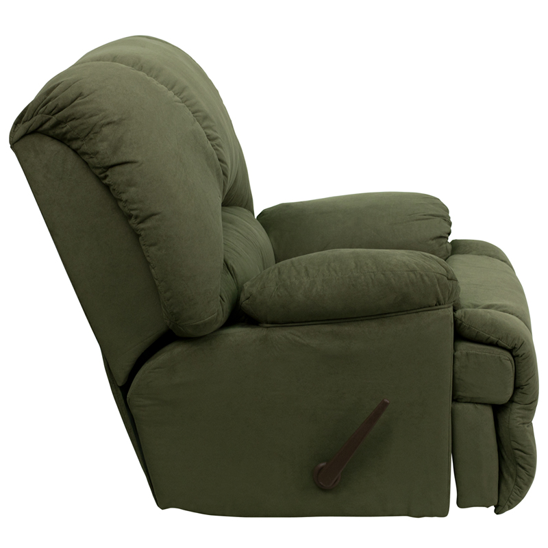 Contemporary Glacier Olive Microfiber Chaise Rocker Recliner [AM-C9700-7903-GG]  sc 1 st  Recliner City : chaise rocker recliner - Sectionals, Sofas & Couches