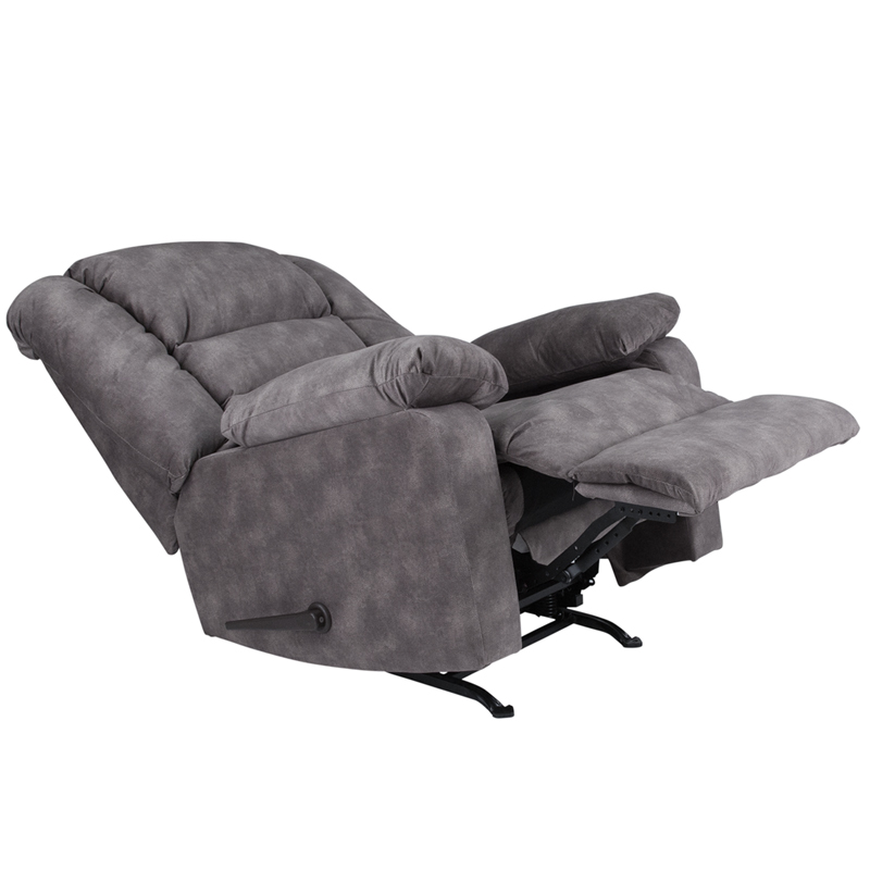 Contemporary Super Soft Cody Gray Microfiber Rocker Recliner WA 8810 100 GG