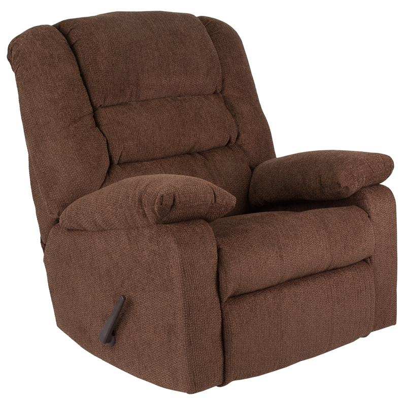 Contemporary Super Soft Jesse Chocolate Chenille Rocker Recliner WA 8810 500 GG