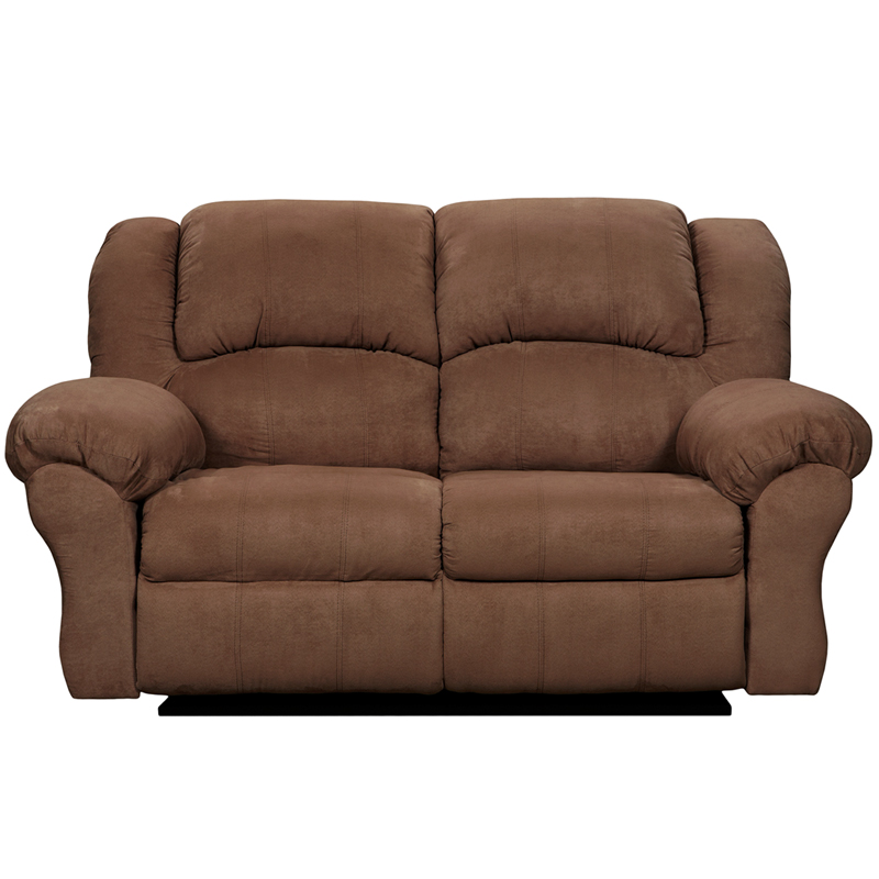 Exceptional designs by flash aruba chocolate microfiber reclining loveseat 1002arubachocolate gg Chocolate loveseat