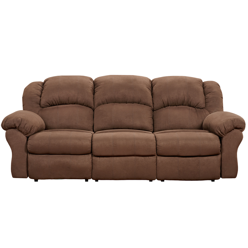 Exceptional designs aruba chocolate microfiber reclining sofa 1003arubachocolate gg Chocolate loveseat