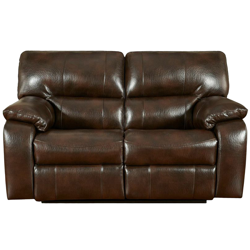 Exceptional designs canyon chocolate leather reclining loveseat 1302canyonchocolate gg Leather reclining sofa loveseat