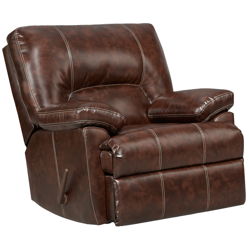 Exceptional Designs Cheyenne Cafe Leather Rocker Recliner
