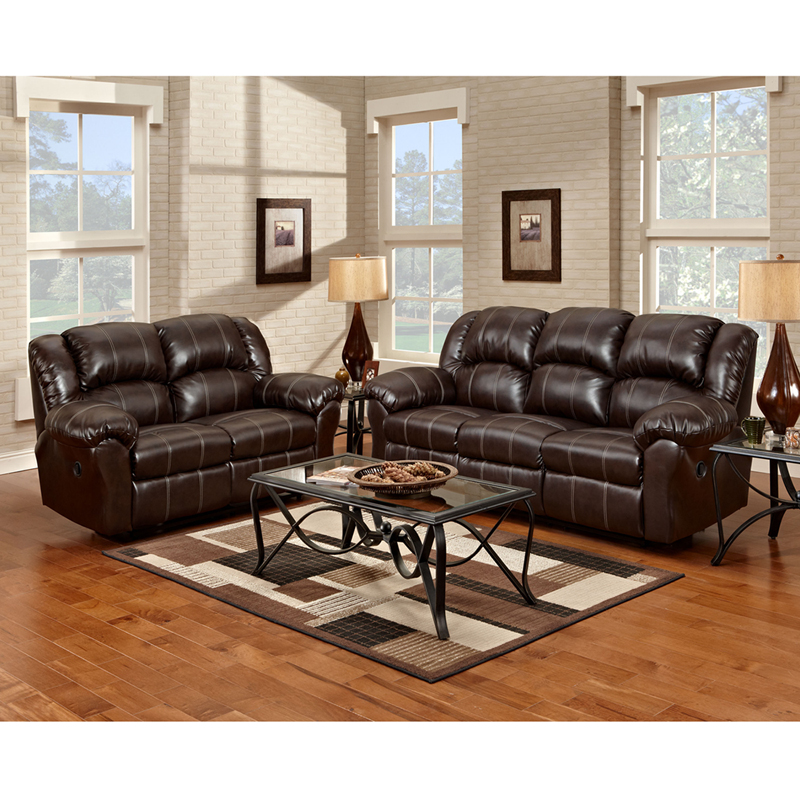 exceptional designs reclining living room set in brandon brown leather 1000brandonbrown set gg. Black Bedroom Furniture Sets. Home Design Ideas