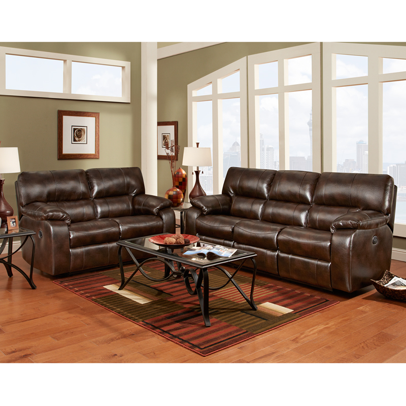 Exceptional designs reclining living room set in canyon for Leather living room sets