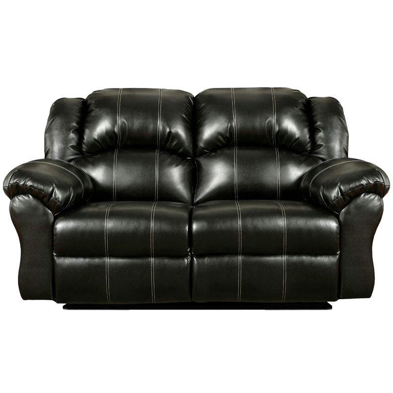 Exceptional Designs Taos Black Leather Reclining Loveseat 1002taosblack Gg