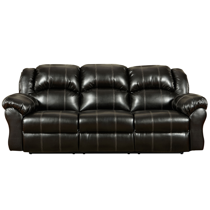 Exceptional Designs Taos Black Leather Reclining Sofa 1003taosblack Gg