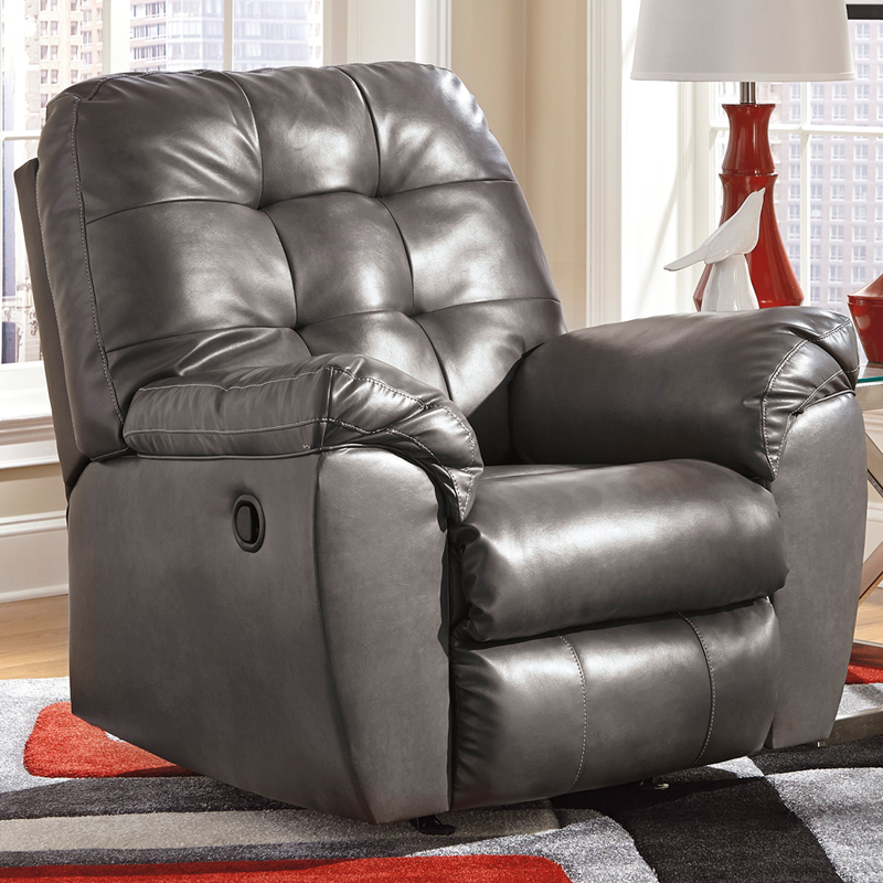 Signature Design By Ashley Alliston Rocker Recliner In Gray DuraBlend  [FSD 2399REC GRY GG]