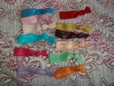 1 Dozen assorted knotted fold over pony tail holders free shipping