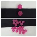 1 dozen pink small round acrylic jewelry beads 11 mm.
