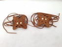1 Faux Belt Butterfly Suede Medium Brown 43 inch Total Length