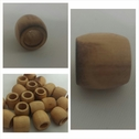 1 lot of 12 wooden 2 tone beads 12mm.