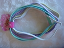 "1 pack of 6 elastic pastel colored headbands hair accessories 14"" long"