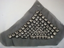 1 Pair Black Triangle Shape Tulle Clear Rhinestones Sew On Applique. D-2-2