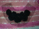1 pc black rolled embroidering soft tulle collar applique D5