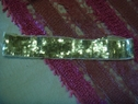 1 pc gold flat sequins tulle headband with elastic in back 21 inch