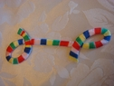 "1 pc multicolored loop iron on applique 3 5/8"" long"