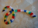 1 pc multicolored loop iron on applique 3  long