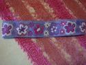 1 pc purple lilac fuchsia floral jacquard ribbon headband 21 inch