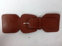 1 Piece Brown Faux Belt Buckle 9 inch long 3 inch wide