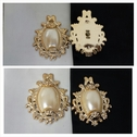 1 piece gold with false pearl in center flat back embellishment great for any craft or decoration 32mm.