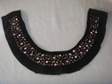 1 Piece of  2 Play with Lining Black Stretch Knit beaded glue on beads #Dra1-1