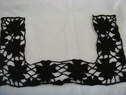 1 Piece of Beautiful black Squared shape floral embroided applique,bot-shel-9