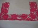 1 Piece of Beautiful Pink Squared shape floral embroidered applique,bot-shel-9