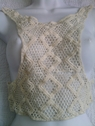 1 piece of natural embroidered crochet clunny applique 15 L x 16 W C1