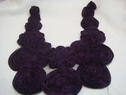 1 piece of Purple with black chiffon with tulle on the back applique 11 w L section
