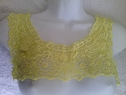 1 piece of yellow embroidered round tulle collar neckline applique E4