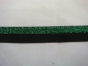 1 roll of 100 yards of black with green glitter foe/fold over elastic trim 5/8 w