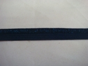 1 roll of 100 yards of navy blue with glitter foe/fold over elastic trim 5/8 w
