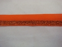 1 roll of 100 yards of orange with glitter foe/fold over elastic trim 5/8 w