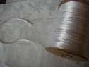 1 Roll of White Rat Tail Cord Trim 1/8 W