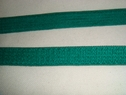 1 wholesale roll of 144 yards of Emerald Green knitted elastic bra strap trim. 3/8 W