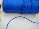 wholesale roll of 200 yards of royal blue rat tail cord. 1/8 W