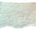 Double Off white Stiff  Scalloped Floral Lace Trim 4 1/2  L 6-1